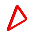 Red triangular blank road sign icon vector image