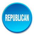 republican blue round flat isolated push button vector image vector image