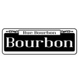 rue bourbon street sign vector image vector image