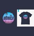 santa monica california graphic t-shirt design vector image vector image