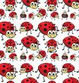 Seamless ladybugs vector image