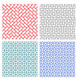 seamless mesh line pattern in korean style vector image vector image