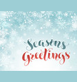 seasons greetings greeting card vector image