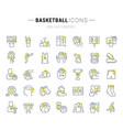 set line icons basketball vector image