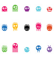 Set of fifteen monsters vector image vector image