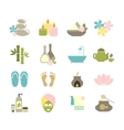 set of flat icons for spa vector image vector image