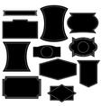 Set of vintage logo shapes vector image vector image