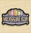 signage for milkshake bar vector image