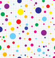Simple dots seamless vector image vector image