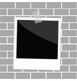 square empty photo frame template with tape vector image