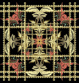 striped embroidery 3d baroque seamless pattern vector image