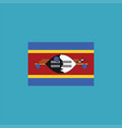 swaziland flag icon in flat design vector image