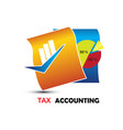 tax accounting logo vector image vector image
