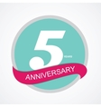 Template Logo 5 Anniversary vector image vector image
