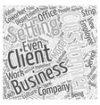 The Client Coworker Word Cloud Concept vector image vector image