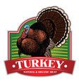 turkey badge design vector image