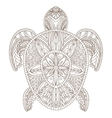 Turtle Zentangle Style vector image