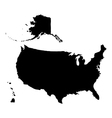 United States of America Map vector image vector image