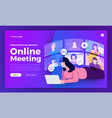 video conference 20 vector image vector image