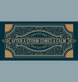 vintage greeting gift card vector image vector image