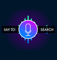 voice search recognition flat icon sound assistant vector image vector image
