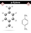 Xylene molecule vector image vector image