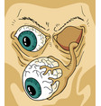zombie face draw vector image vector image