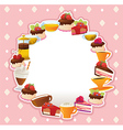 Cakes card vector image