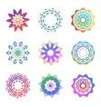 set of minimalistic trendy shapes creative logo vector image