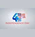 4th july - independence day background vector image