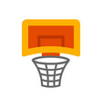 a basketball hoop vector image