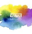 Absctract background with watercolor splash vector image vector image