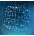 Abstract Mesh polygonal background Scope of vector image