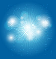 abstract ray light on blue background vector image