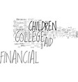 aid college financial scholarship text word cloud vector image vector image
