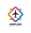 airplane concept logo design travel direction vector image