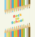 back to school color pencil background top view vector image vector image