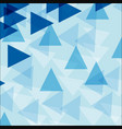 background template with blue triangle shapes vector image