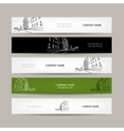 Banners design with cityscape sketch vector image vector image