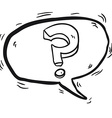 black and white question mark in cartoon speech vector image