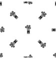 bouquet of flowers pattern seamless black vector image