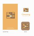 bricks wall company logo app icon and splash page vector image vector image