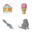 building animal and other web icon in cartoon vector image vector image