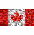 canada flag made of hearts background vector image