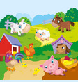 Cartoon Cute Farm Animals vector image vector image