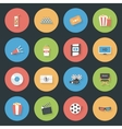 Cinema flat icons set vector image vector image