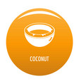 coconut icon orange vector image