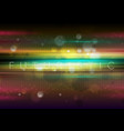 colorful glowing stripes and tech lines abstract vector image vector image
