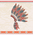 colorful of native american indian chief hea vector image vector image