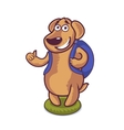 Cute character cartoon dog vector image